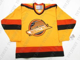 b6c277862 Cheap custom VANCOUVER CANUCKS VINTAGE CCM SUNFLOWER HOCKEY JERSEY stitch  add any number any name Mens Hockey Jersey XS-5XL