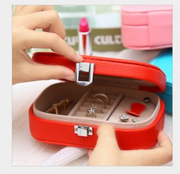 earring pieces NZ - new leather box jewelry storage box makeup organizer earrings ring storage case Casket for gift organizer management bijoux