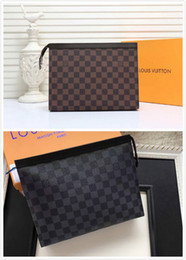 High End Clutch Bags Australia - New French high-end brand men's clutch bag fashion leather business casual party travel men's canvas tailored handbags free shipping