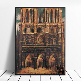 $enCountryForm.capitalKeyWord UK - Notre Dame de Paris Decorative Painting Core Canvas Hanging Painting New Micro-spray Oil Painting Living Room Fresco