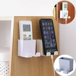 $enCountryForm.capitalKeyWord Australia - 1PC Wall Mounted Organizer Storage Case Mobile Phone Plug Holder TV Air Conditioner Remote Control Stand