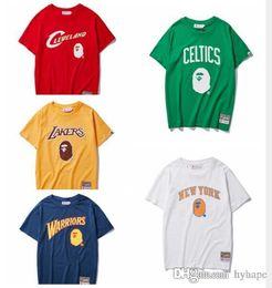 Wholesale cartoon print shirt online – design 2019 Summer Teenager Cotton Cartoon Print T Shirts Men s Casual Round Neck Short Sleeve T Shirts