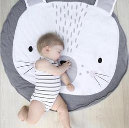 Discount kids room cartoon - INS Baby Infant Play Mats Kids Crawling Carpet Floor Rug Baby Bedding Rabbit Blanket Cotton Game Pad Children Room Decor
