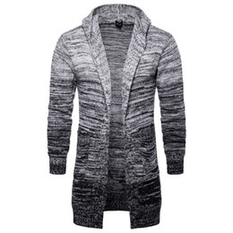 $enCountryForm.capitalKeyWord UK - Fall 2019 hooded cardigan jacket Men's European and American trend medium-long grey knitted sweater YM017