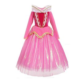 princess aurora cosplay 2019 - New Sleeping Beauty Cosplay Girls Princess Dress Kids Aurora Costume Children Aurora Tutu Dress Filles Party B12 discoun