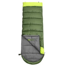 $enCountryForm.capitalKeyWord UK - Envelope Type Camping Sleeping Bag Waterproof Long Adult Outdoor Hand Unbound Thickening Splicing Single Cotton