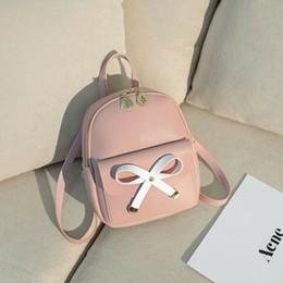 $enCountryForm.capitalKeyWord Australia - Mini Backpack Women Cute Bow School Bags For Girls PU Leather High Quality Small Backpack