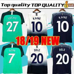 4b38d668b25 Thai quality KANE spurs Soccer Jersey 2018 2019 LAMELA ERIKSEN DELE SON jersey  18 19 Football kit shirt Men and KIDS KIT SET uniform