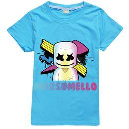 $enCountryForm.capitalKeyWord Australia - Hot Sale T-Shirt with Logo Cotton DJ Marshmello Mask Music Kids Tops Boys Short Sleeve T-Shirt Men's Summer and High Quality 3D Sport Short