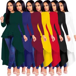 Model long dress casual online shopping - Autumn and winter models X9044 European and American fashion evening women dress ruffled skirt dress