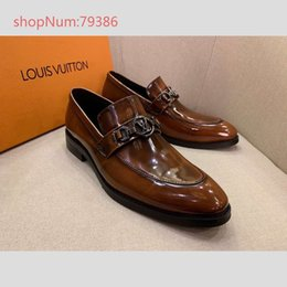 645712078 Fashion Soft Genuine Leather men dress shoes Pointed Toes Metal Famous  brand man flat Loafers Hombre Top quality 38-44 Spring Fall