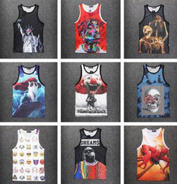 dcb3984c835 Wholesale New fashion men womens 3D Vest character print Tupac 2Pac Biggie  Sleeveless shirts tank top summer sports Basketball Jersey