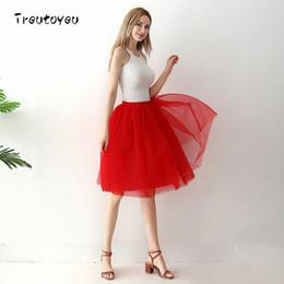 $enCountryForm.capitalKeyWord Australia - Six Layers Of Knee Length Tuck Skirt Elegant Folded Red Tutu Skirts Women Vintage Lolita Petticoat Faldas Mujer Saia Jupe Y19071501