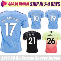 Top Thail City jersey 2020 Camisas Home Away Sterling Mahrez Kun Aguero De Bruyne Outdoor Apparel كرة القدم جيرسي قمصان كرة القدم