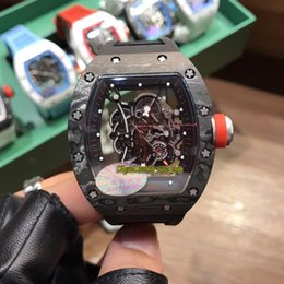$enCountryForm.capitalKeyWord Australia - 11-Styles RM 055 NTPT Best All Carbon Fiber Case Skeleton Black Dial Japan NH Automatic RM055 Mens Watch Sapphire Rubber Strap Sport Watches