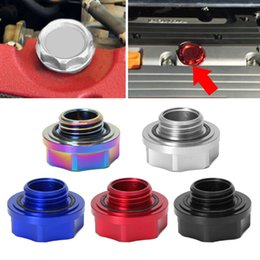 fuel cap wholesalers Australia - High pressure-resistant Aluminum Automobile Vehicle Oil Cap Fuel Tank Oil Cover Engine Filler Cap