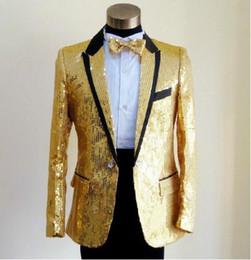 Hot Bar Australia - Hot Sell Men Tailcoat Tuxedo Silver Sequin Lapel Man suit Groom Tuxedos Wedding Prom Bar singer costume Long Jacket Custom CY05