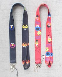 Discount street cameras - Sesame Street CellPhone Lanyard key chain Neck Strap Keys Camera ID Card Necklace String E-Cigarette Neck Strap