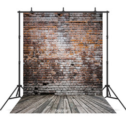 China grunge brick wall Vinyl photography background for children baby shower new born portrait backdrop photo studio photocall cheap brick wall photo background suppliers