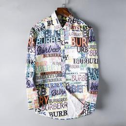 Discount social - 2019 Brand Men Business Casual shirt mens long sleeve striped slim fit camisa masculina social male shirts new fashion b