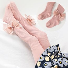 children s leggings tights Australia - Girl Tights Stockings 1-6Y Baby Cute Pantyhose Kids Tights Knee Knitted Stocking White Bowknot Children\'s Princess