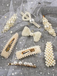 Hair Clip Korean Style Australia - Korean Ins Pearl Hair Clip Barrettes Temperament Girl Fashion Elegant Hairpins Hair Accessories Trendy Style Ornament Women Jewelry 2019 Hot