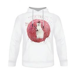 3740c494a1b85 Polar Bear Animals 2019 Men Anime Hip Hop Male Love Couple 3D Print Hoodie  Sweatshirt White Jacket Coat Clothes Harajuku