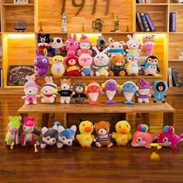 Wholesale Cartoon Plush Toys CM Stuffed Animal Dolls Hello kitty Pikachu Rabbit Spiderman Elephant Bear Snoopy Kids Children favors baubles birthday