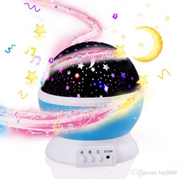 $enCountryForm.capitalKeyWord Australia - 3D Night Child projector music Night Light Projector Spin Starry Star Master Children Kids Baby Sleep Romantic Led USB Projection Lamp
