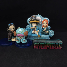 $enCountryForm.capitalKeyWord NZ - NEW hot 5-10cm 4pcs set 20th One Piece Luffy Nami Nico Robin Tony Action figure toys doll collection Christmas gift with box