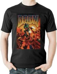 $enCountryForm.capitalKeyWord NZ - Doom T Shirt Video Game Classic BOX ART Vintage Retro Summer PC Doomguy 4713