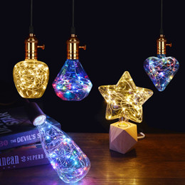 $enCountryForm.capitalKeyWord Australia - Led light bulb Star Heart Diamond RGB led lamp E27 110V 220V decorative lampada led for a holiday home living room bedroom decor