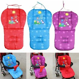 stroller mats UK - Baby Stroller Seat Cushion Pushchair High Chair Pram Car Colorful Soft Mattress Carriages Seat Pad Winter Stroller Mat Accessory