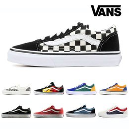 2019 VANS SK8-Hi Classic Old Skool White zapatillas de deporte Mens  High-top fear of god Canvas Casual Skate Shoes Mens Trainers Sneakers d8132277f