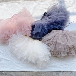 white ruffle tutu NZ - 4Color Summer 2020 lace girls skirts baby tutu skirts princess Ballet Tutu girls skirt kids skirts kids designer clothes girls B1521