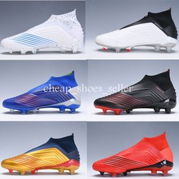 $enCountryForm.capitalKeyWord Australia - Laceless Predator 19+FG Pogba Virtuso kids soccer shoes no tie shoe laces boys Archetic taquets chuteiras de futebol Football cleats Boots