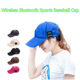 Wireless Headphones Mic Blue Australia - Unisex Wireless Sport Bluetooth Music Cap Speaker Earphones Baseball Hat Canvas Smart Sun Cap Music Headphone Speaker with Mic for Phone