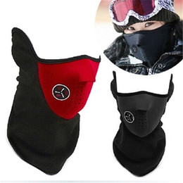 $enCountryForm.capitalKeyWord Australia - Warm Fleece Bike Half Face Mask Cover Face Hood Protection Cycling Ski Sports Outdoor Winter Neck Guard Scarf Warm Mask