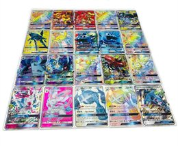 Ex gamEs online shopping - Anime Trading Cards GX Trainer Games EX Mega Cards Cartoon English Party Card for Child Adult Poker Fun card shine carton box