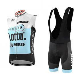 Top mTb brands online shopping - 2019 Top Brand New Team Lotto men Cycling Clothing sleeveless bib shorts sets Cycling Jersey MTB Bike Sportswear d gel pad