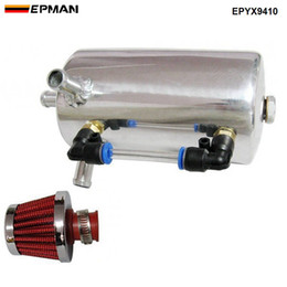 tanks filters Australia - EPMAN High Quality UNIVERSAL BREATHER TANK & OIL CATCH CAN TANK WITH BREATHER FILTER 0.5L EPYX9410