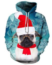 113bcf4749fb 2018 Christmas Dog Cat Cute 3D Print Lovers Hoodies Women Men Adults  Sweatshirts Fashion Long Sleeve Hooded Pullover Couple Coat