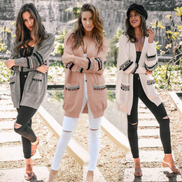 Femmes Cardigan Tricoté Feminino Cardigans chauds Boho Open Front laine manches longues Cardigan Pull manteau outwear LJJA3044