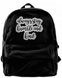 $enCountryForm.capitalKeyWord UK - Always Stay Humble and Kind Fashion Canvas designer backpack For Men & Women Teens College Travel Daypack Leisure bag Black