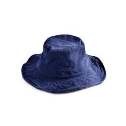 Sailor Hat Women UK - New arrival Hat women plain flat top fisherman hat cotton material fashion personality Korean trend basin hat man