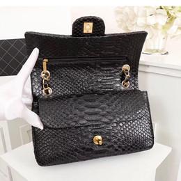$enCountryForm.capitalKeyWord NZ - 2019 New Summer Fashion High-quality Women's Bag Handbag Genuine Leather Snakeskin Luxury Fashion Chain Quilted Bags