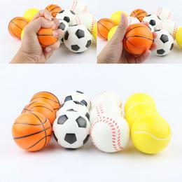 Vente en gros Baseball Football Basketball Jouet Éponge Balles 6.3cm Doux PU Mousse Balle Fidget Relief Jouets Nouveauté Sport Jouets Pour Enfants GGA1868