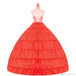 $enCountryForm.capitalKeyWord UK - 2018 In stock Ball Gown Petticoat Cheap White Black Crinoline Underskirt Wedding Dress Slip 6 Hoop Skirt Crinoline For Quinceanera Dress