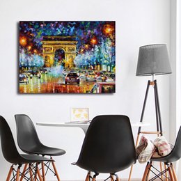 paris canvas prints Australia - Paris Flight Canvas Painting Print Living Room Home Decoration Modern Wall Art Oil Painting Poster Salon Pictures Framework HD