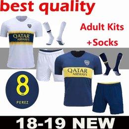 Adult new Boca Juniors kits Soccer Jerseys GAGO CARLITOS HOME AWAY Football  jersey shirts Boca Junior 18 19 new soccer jerseys TEVEZ Adult 4f4629013